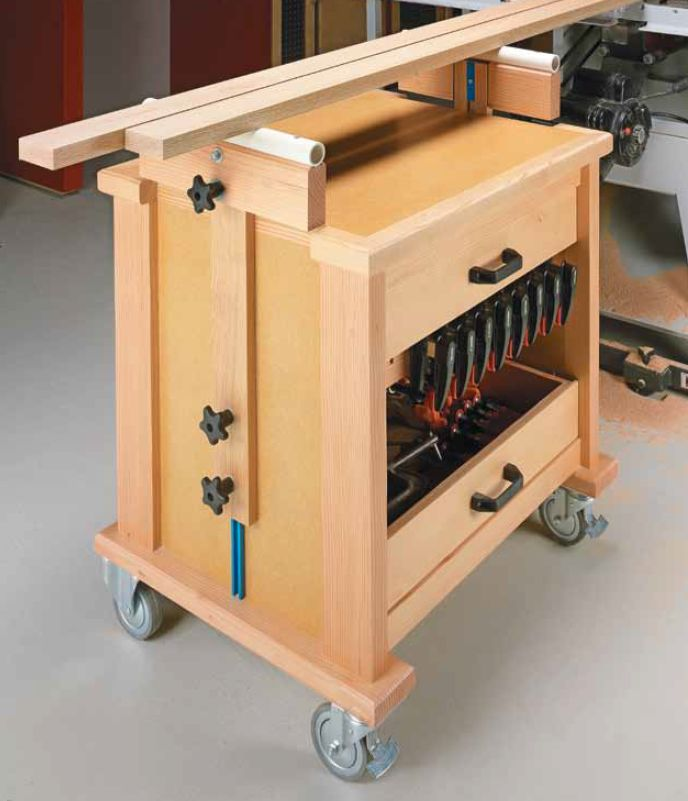 94 best images about woodsmith shop tools jigs for Rolling lumber cart plans