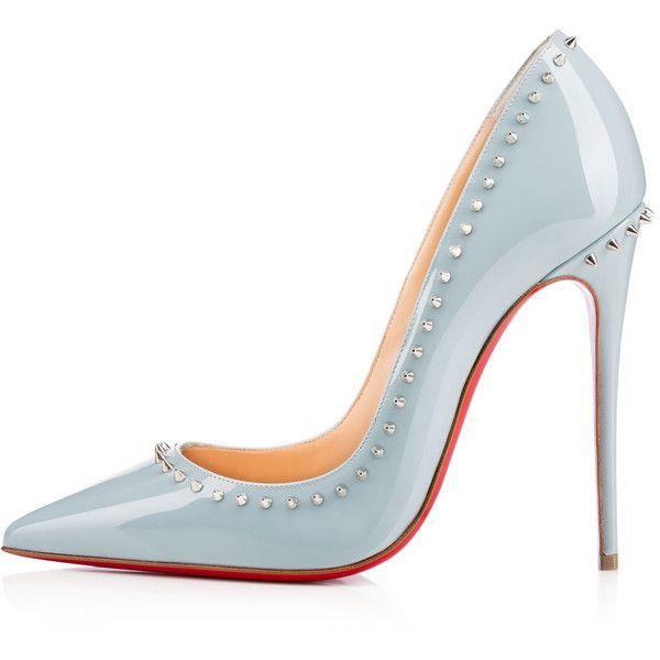christian louboutin high heels shoes silver spike