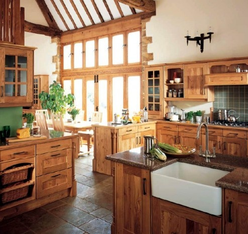 Modern Furniture, Decor Ideas, Dreams Kitchens, Kitchens Design, Country Style, English Country, Farms Sinks, Country Kitchens, Accent Wall