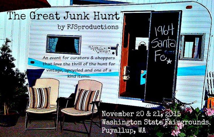 We've renamed our Puyallup shows! Won't you join us for The Great Junk Hunt? Next show June 26&27,2015. The Holiday Market is Nov 20&21,2015.
