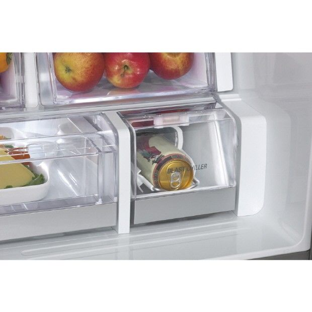 The new LG refrigerator comes with a blast chiller, meaning your beer or cans will be cooled in five minute.