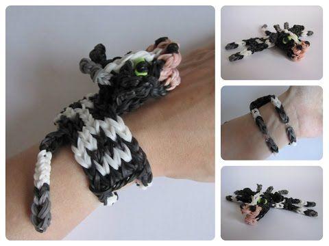Rainbow Loom cow bracelet Loombicious - YouTube