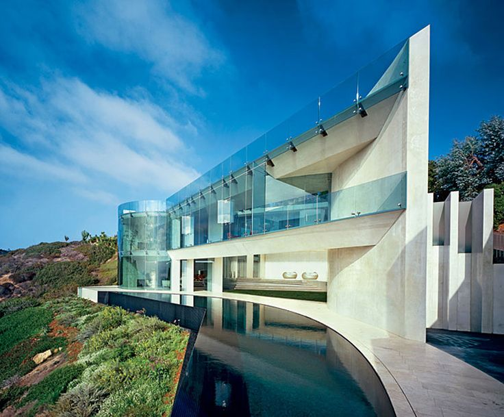 Awesome Razor residence in La Jolla, California by Architect Wallace E. Cunningham