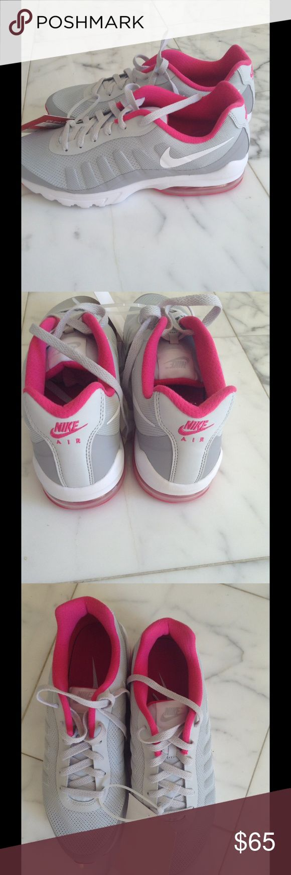 New Nike Airmax in Fuschia and Gray Size 10 Brand New Ladies Nike Air Max Shoe in Fuschia and Gray Size 10 Nike Shoes Athletic Shoes