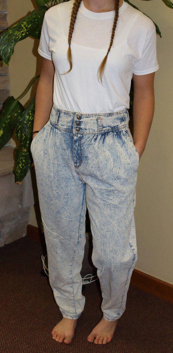 94c054ad Mom Jeans/waist 30/Zena Jeans, lightweight denim, acid wash, high rise | 90s  Mom Jeans | Jeans, 90s mom jeans, Mom jeans