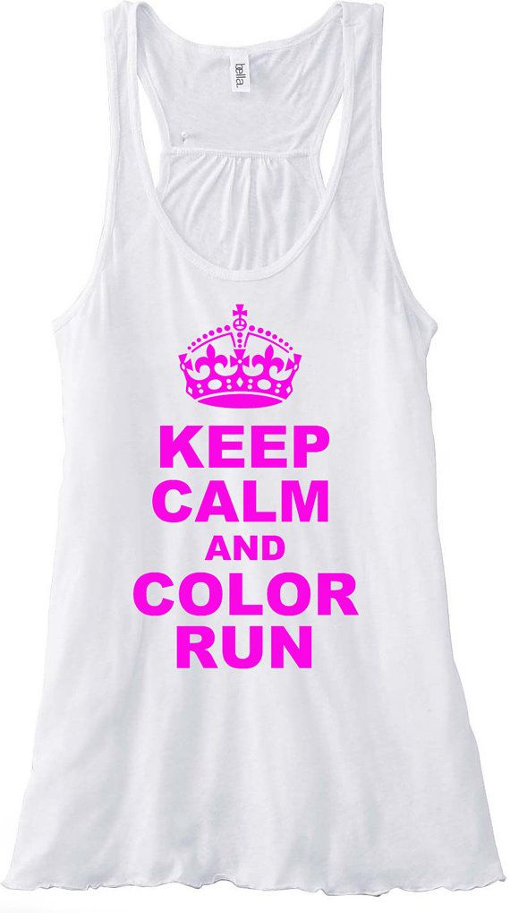Keep Calm and Color Run Runner Running Gym by sunsetsigndesigns, $24.00