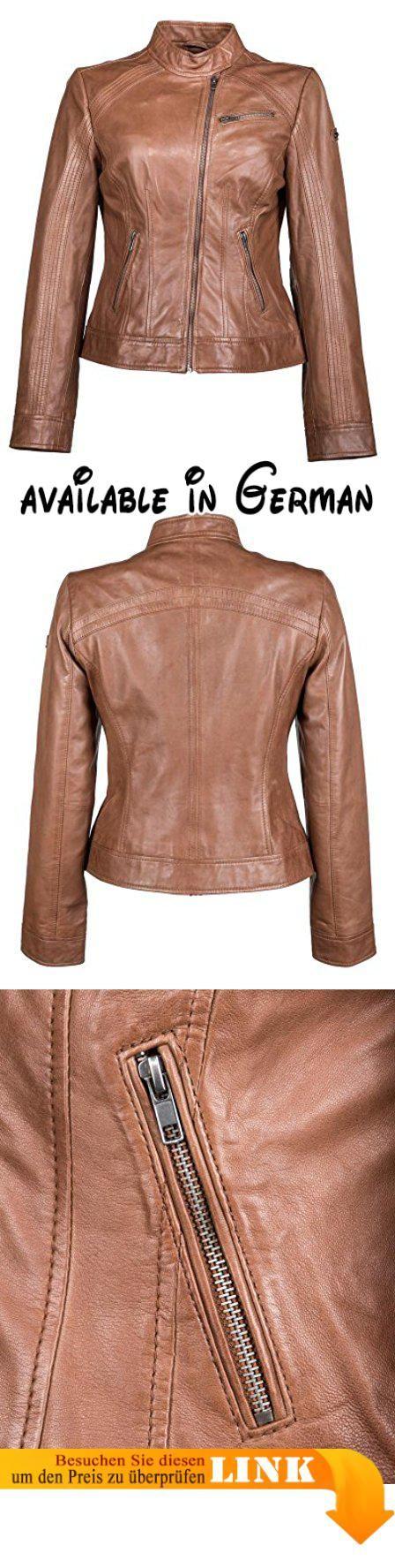 B00JENLHLU : JCC Lederjacke Damen. Trendige Damen Lederjacke im Bikerstil. weiches Lammleder. viele Details. cooles Design. Farbe: brown #Apparel #OUTERWEAR