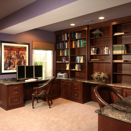 The 18 Best Home Office Design Ideas With Photos: Traditional Home Office Photos Basement Design, Pictures