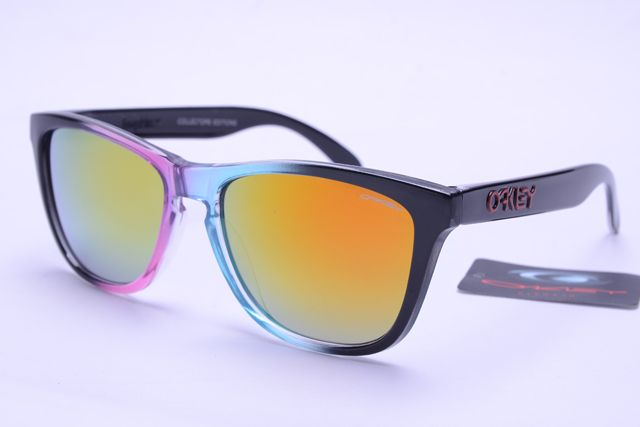Oakley Frogskins Sunglasses Black Blue Pink Frame Colorful Lens 0364 [oakley 0364] - $12.99 : Ray-Ban® And Oakley® Sunglasses Online Store