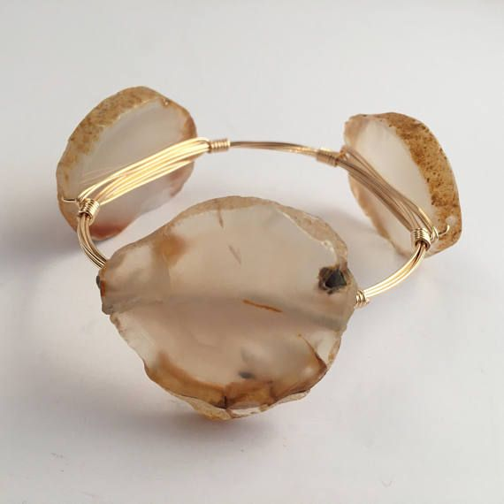 Agate Wire Wrapped Bangle Wire Wrapped Bangle Wire Wrap