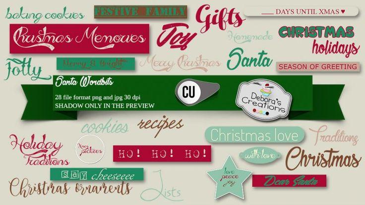 Santa Wordbits by Debora's Creations (CU)