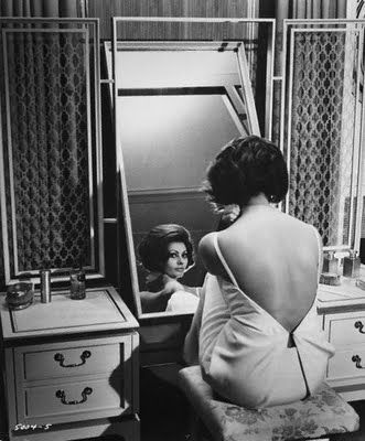 Create a space of your very own to pamper yourself and get ready in your home. A beautiful dressing table brings back that old Hollywood glamor is the foundation of a Seductive Boudoir™ (Sophia Loren - Image by © John Springer Collection/CORBIS)