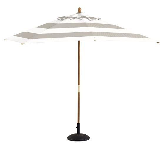 Premium Sunbrella® Rectangular Umbrella - Striped | Pottery Barn