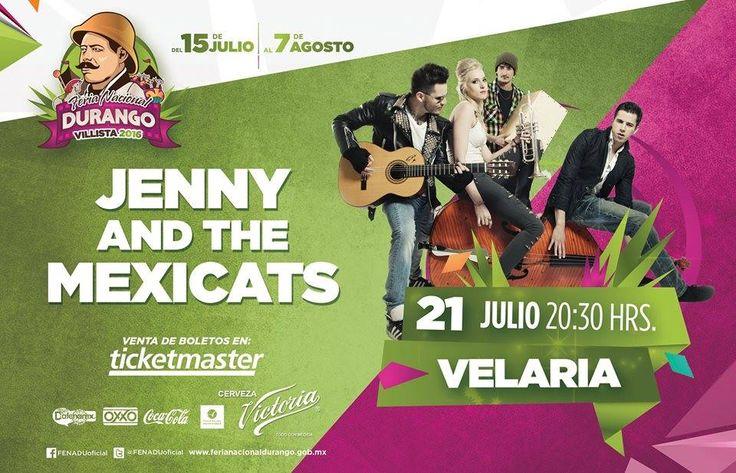Jenny and the Mexicats, conocidos anteriormente como Pachucos y la Princesa, son una banda de origen multicultural, quienes se presentarán en la FENADU 2016