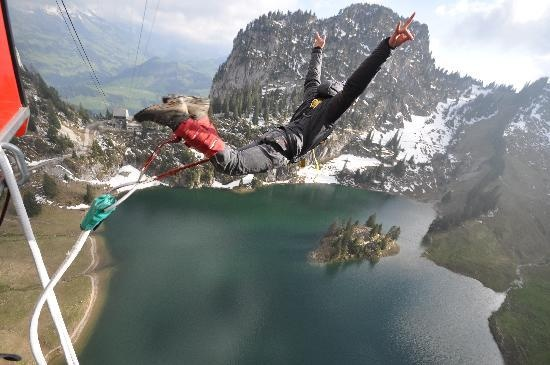 Interlaken, Switzerland is home to a plethora of Extreme Outdoor Activities. leif & I are planning to stop by for some canyoning during the honeymoon (fingers crossed!): Honeymoons Fingers, Bungie Jumping, Swiss Trips, Swiss Alps, Buckets Lists Travel, I'M, Buckets Listtravel, Fingers Crosses, Beenther Willgo
