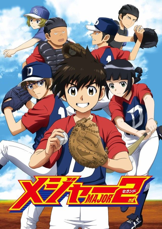Baseball Anime Major 2nd Key Visual