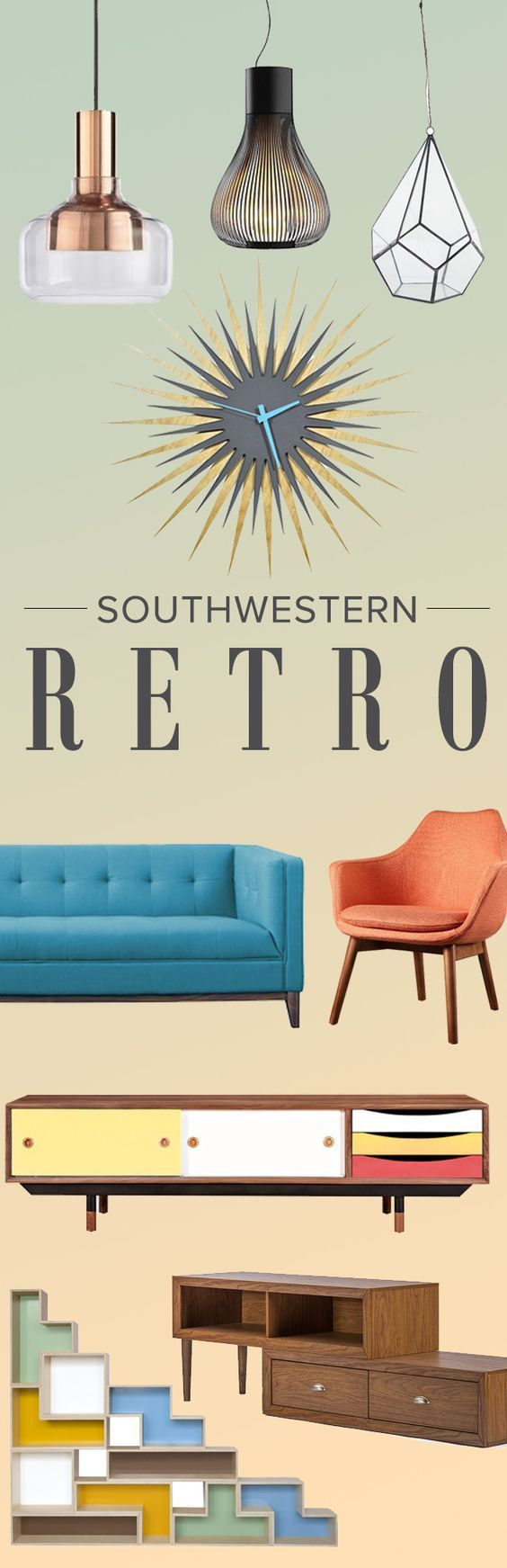 Dreaming of your favorite decade? Step back to the '70s style showdown: Southwest meets mid-century mod. Find all of your Southwestern Retro essentials at AllModern.