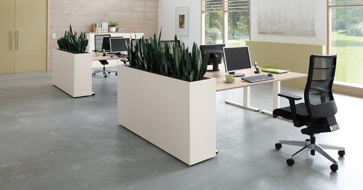 verrijdbare plantenbak voor kantoor