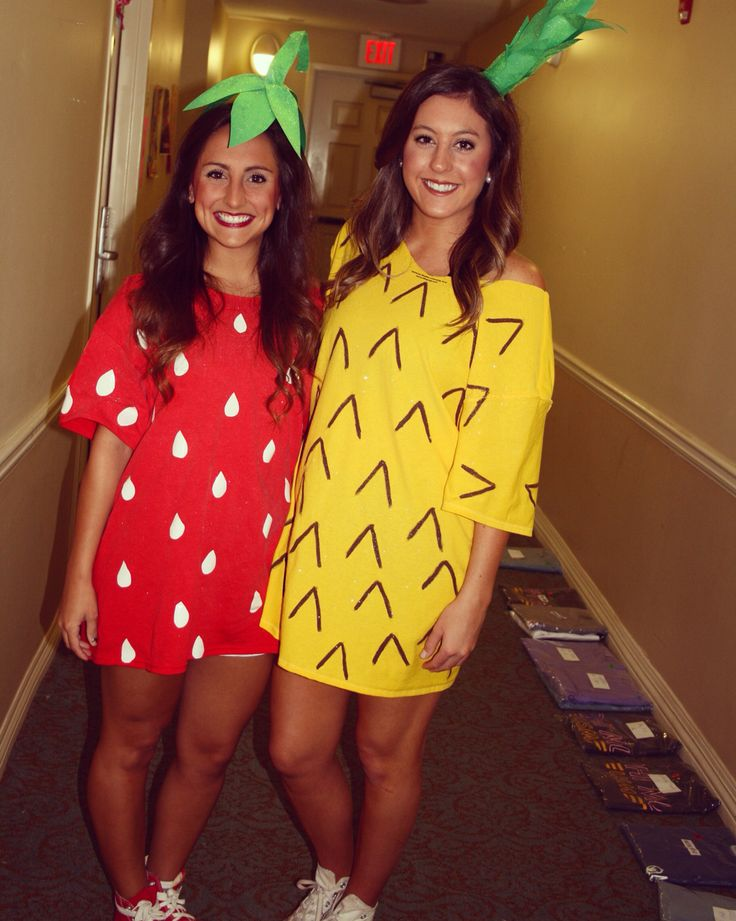 Strawberry and Pineapple Halloween Costume Mehr