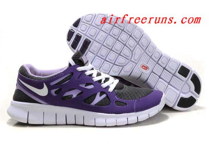 Buy Gray Purple White Nike Free Run 2 Womens 2013 Free Shoes