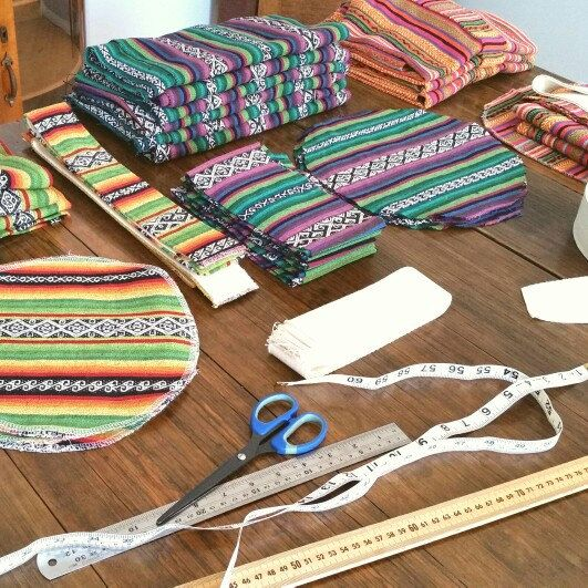 Cut out day today, catch up time - YOGA MAT BAGS. #nannabonkers #mexicantextiles #yogamatbag