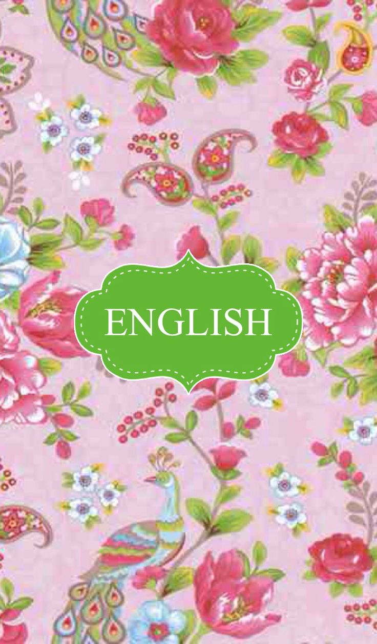 English binder cover
