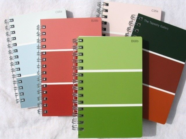 32 Paint Chip Projects  - Journal Cover  Cute idea! How can we adapt this?