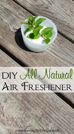 This super simple DIY natural air freshener will save your family from all those yucky chemicals and save you some money too!