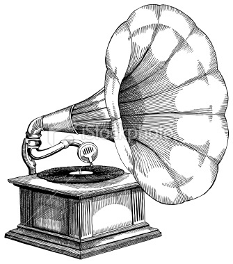 Gramophone Royalty Free Stock Vector Art Illustration