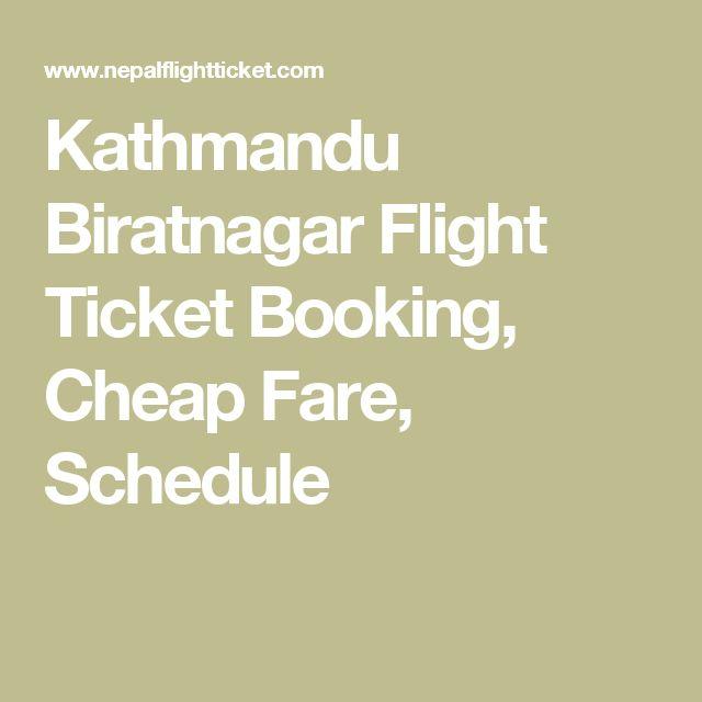 Kathmandu Biratnagar Flight Ticket Booking, Cheap Fare, Schedule