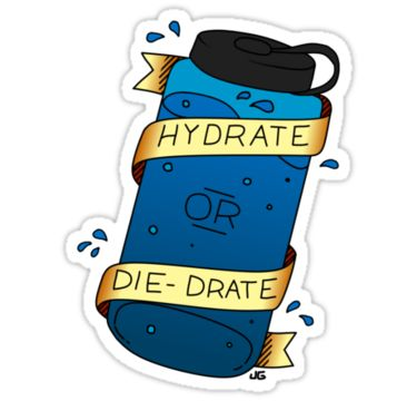 Are you a believer in the rule of 64 ounces a day? Do you always make sure your pee is crystal clear? If you're staying hydrated and excited about it, this is the sticker/notebook/mug for you! (Originally conceived as a tattoo, but Redbubble doesn't sell those yet.) • Also buy this artwork on stickers, phone cases, home decor, and more.