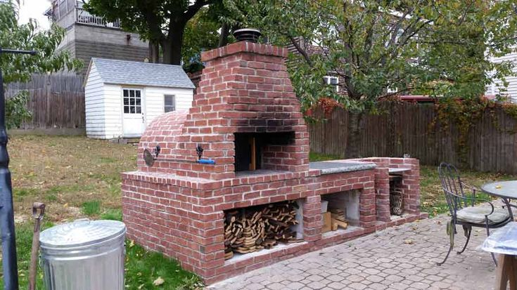 Wood Fired Brick Pizza Oven And Brick Bbq Grill Brick