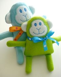 Monkey Softie - 3 Sizes! | In the Hoop | Machine Embroidery Designs | SWAKembroidery.com