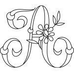 Daisy & Rings Monogram Alphabet; and other various hand embroidery monograms