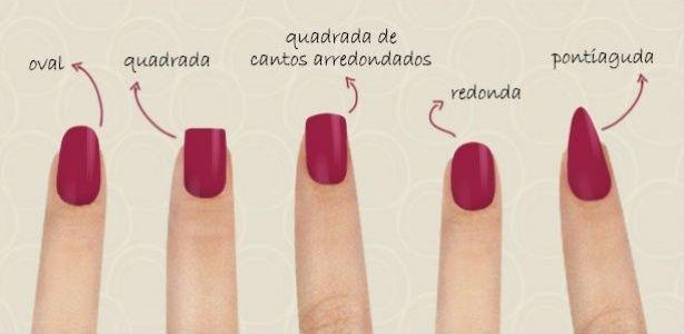 A escolha do formato da unha pode influenciar na aparência das mãos.