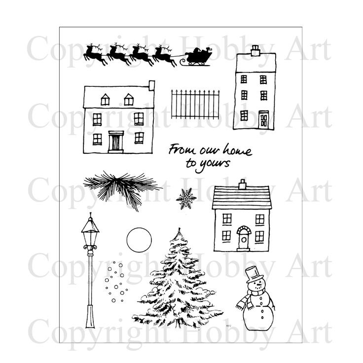 Hobby Art Clear, 13 NEW designs in this Christmas Scene-it
