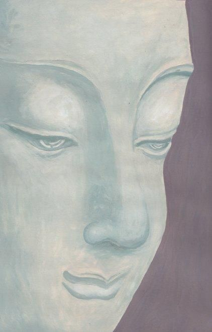Buddha face - Painting by Suman Shakya in My paintings at touchtalent
