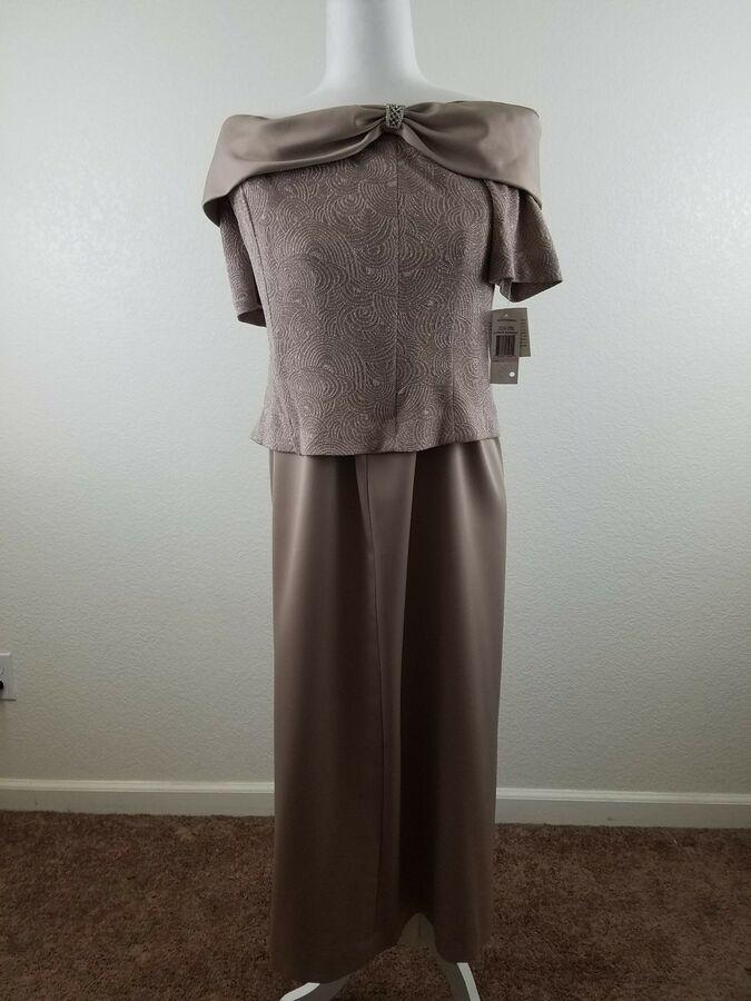 5e923241a1b Mother of The Bride Groom Top Skirt Satin Formal Dresses Gown 2 Pcs Size 10  884002154554 eBay Skirt Satin Formal
