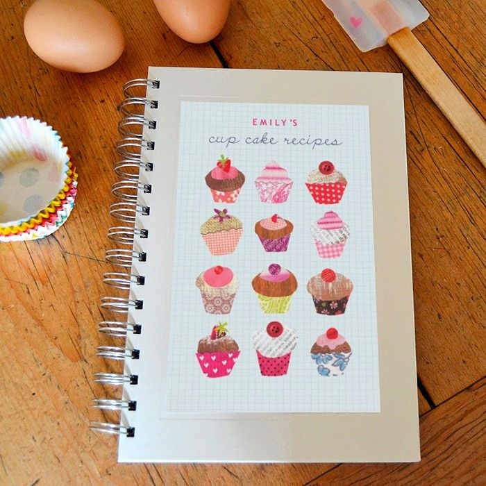 Personalised cupcakes notebook from madebyellis.com
