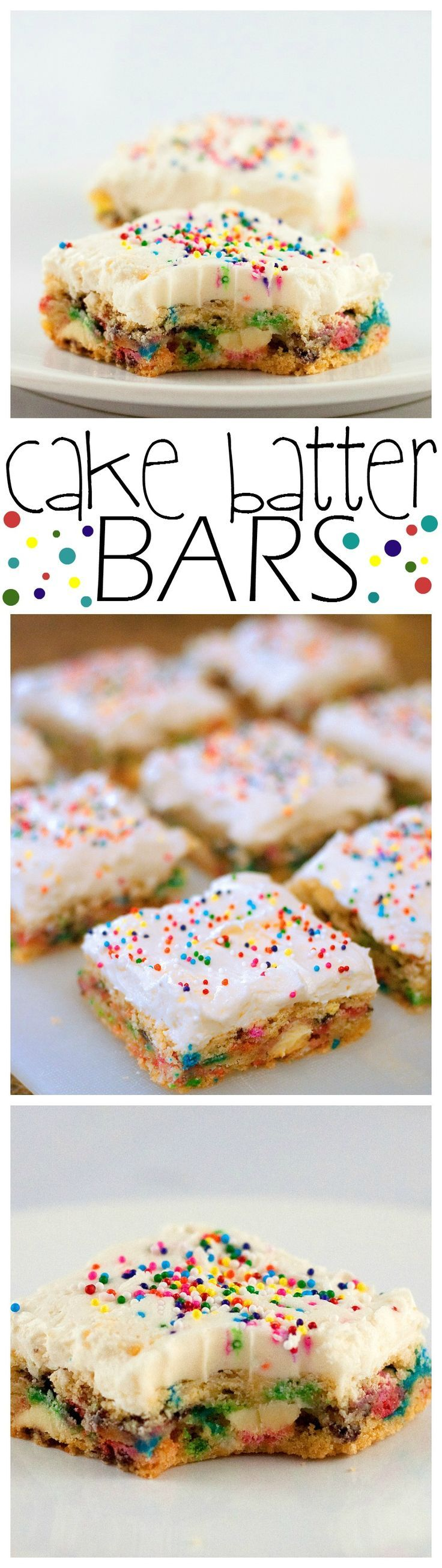 Cake Batter Bars - Baking Beauty