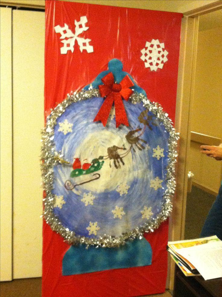 Snow Globe Christmas Door Decorating Holiday Door