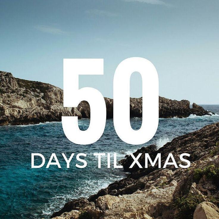 50 days till Xmas!  #xmas #holidays #2016 #holidayseason #holidays2016 #christmascountdown2016 #christmasiscoming #beach #holiday #bringontheholidays