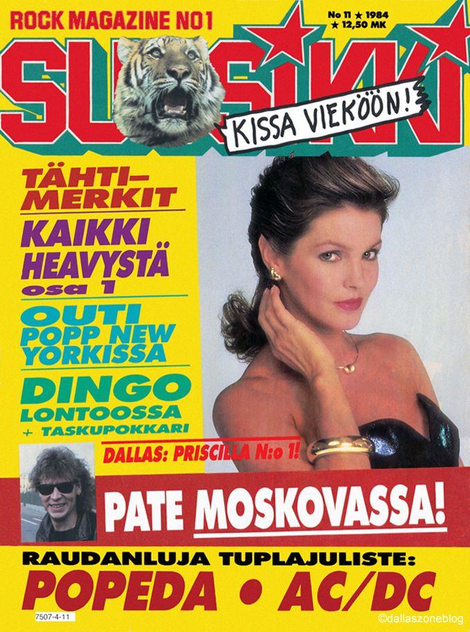 Priscilla Presley as Jenna Wade on Finnish Suosikki magazine 1984.