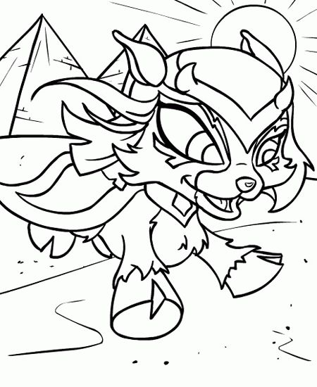 Free Neopets Coloring Page Pages 19 Printable