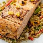 Quinoa con salmón