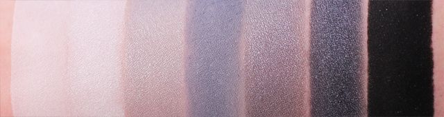 Makeup Geek Product Line | Swatches by Meredith Jessica Makeup: White Lies / Ice Queen / Mercury / Stealth / Graphite / Galaxy / Corrupt