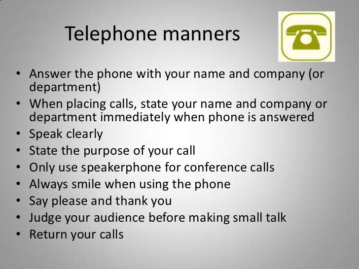 Telephone manners and etiquette - Google Search