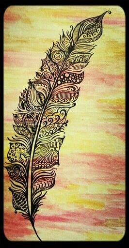 Feather walpaper