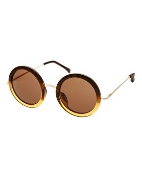 The Row Leather Oversized Round Sunglasses: Colors Golden, Sunglasses Colors, Round Glass, Eyeglasses