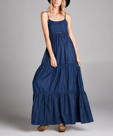 Another great find on #zulily! Denim Tiered Maxi Dress by Love, Kuza #zulilyfinds